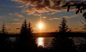 Bartlett Cove Sunset 12x20 768